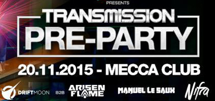 20.11.2015 Transmission Pre-Party, Prague (CZ)