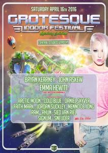 grotesque indoor festival 2016 spring edition flyer