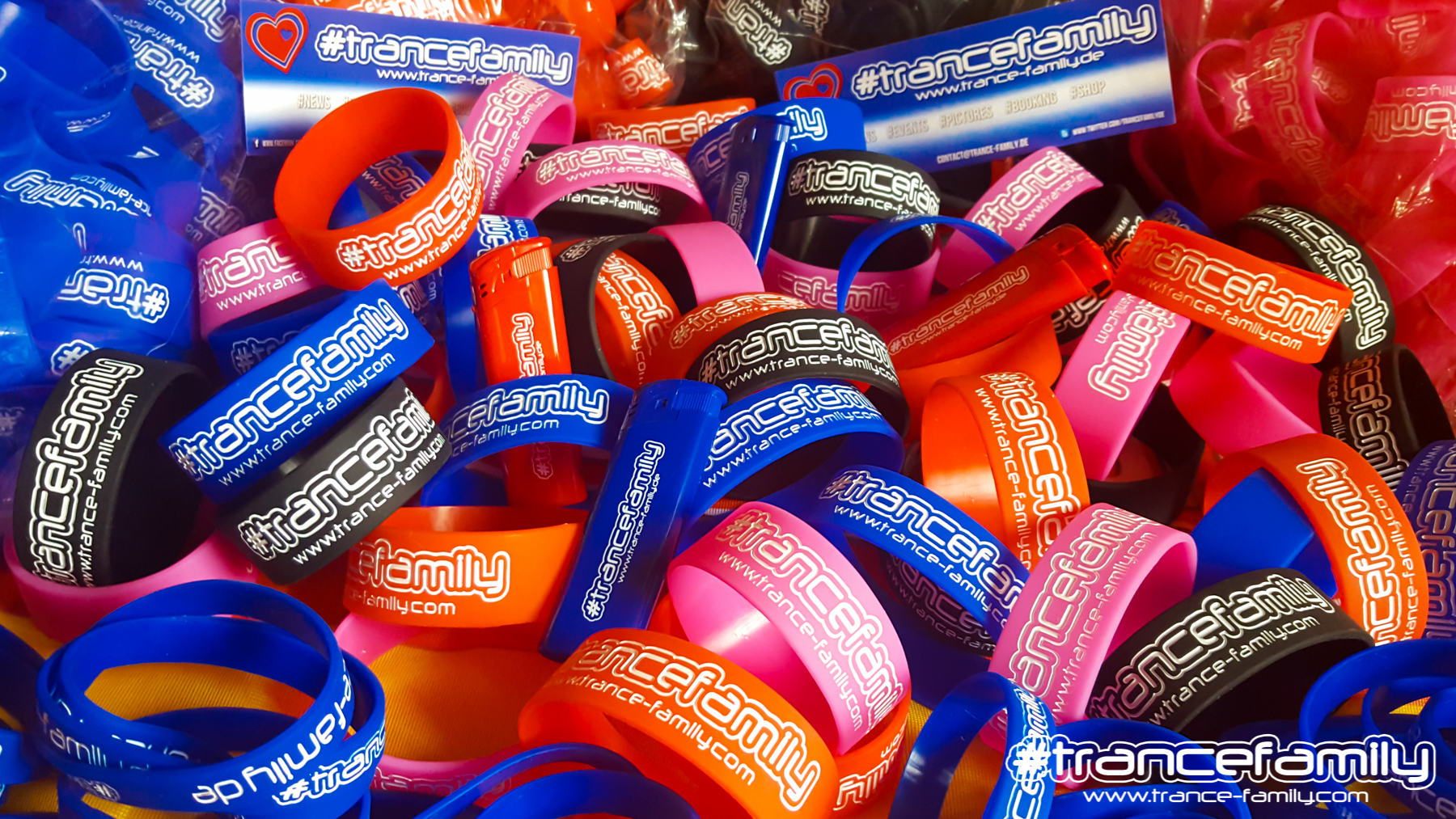 trance family wristbands wide