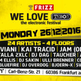 26.12.2016 We Love Technoclub Festival, Frankfurt am Main (DE)