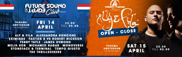 14.-15.04.2017 FSOE Clubnight // Aly & Fila open to close, Amsterdam (NL)