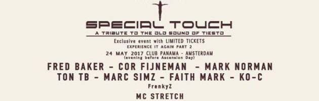 Special Touch – Tribute to the old sound of Tiesto (Hemelvaart)