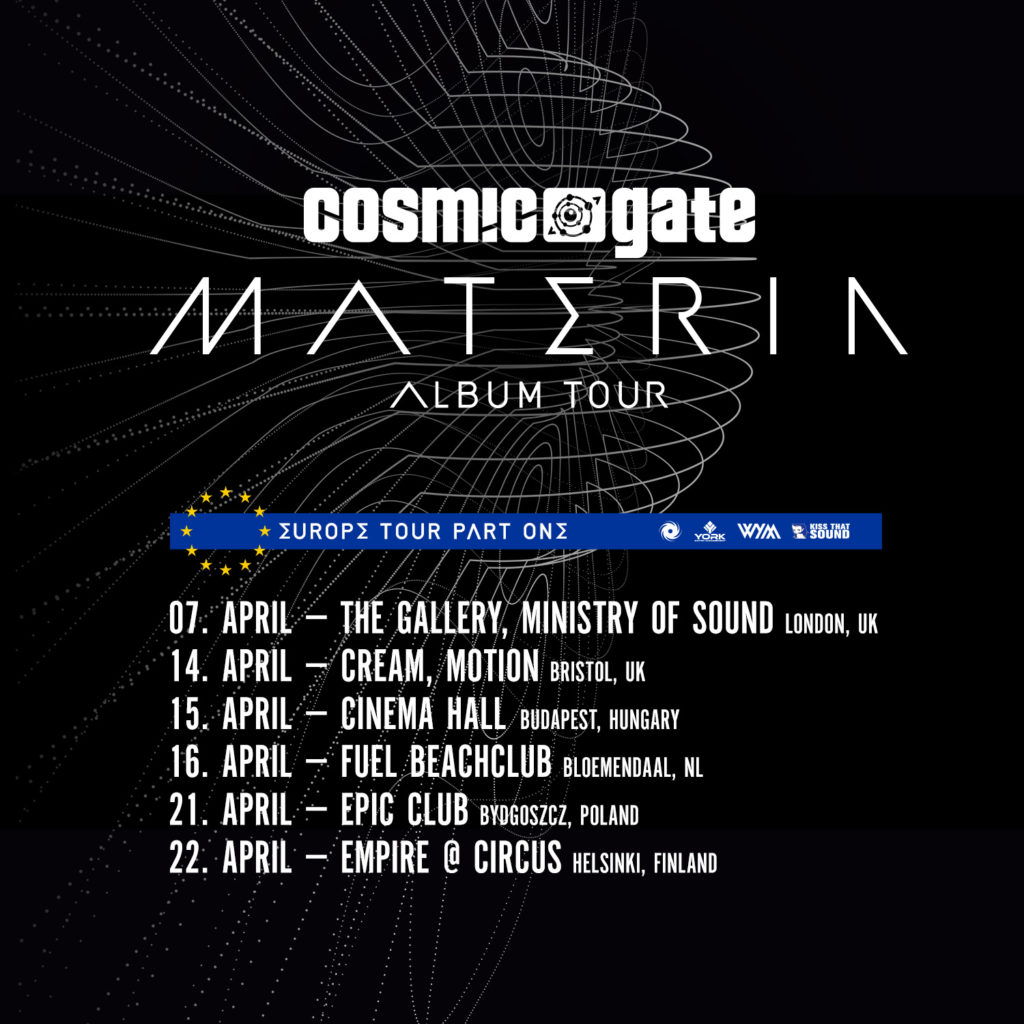Cosmic Gate's European Materia Tour