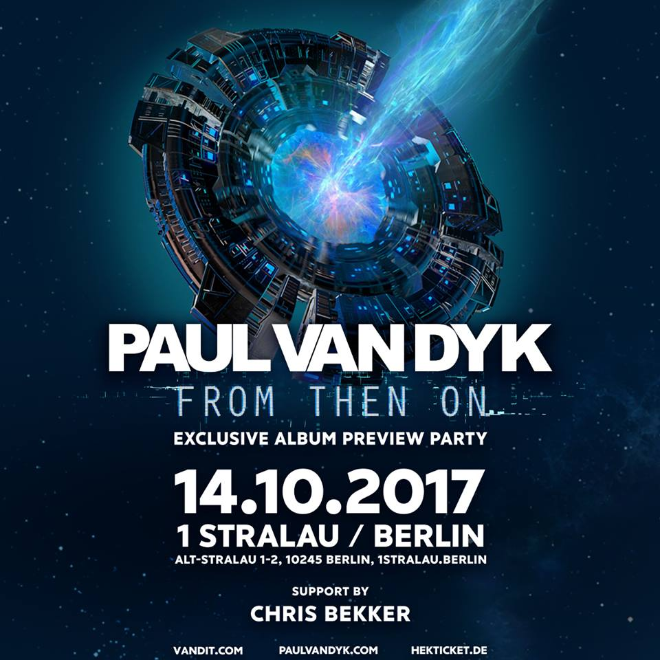 "14.10.2017 Paul van Dyk ""From Then On"" album tour, Berlin (DE)"