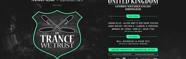 Menno de Jong & Trancecoda TC4 present In Trance We Trust UK