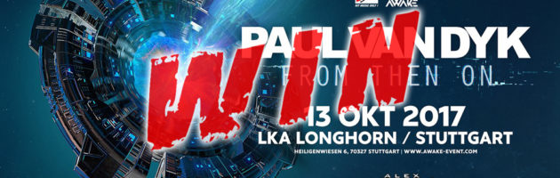 """13.10.2017 Paul van Dyk """"From Then On"""" Album Tour, Stuttgart (DE) #WIN TICKETS"""