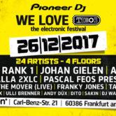 26.12.2017 We Love Technoclub Festival, Frankfurt am Main (DE)