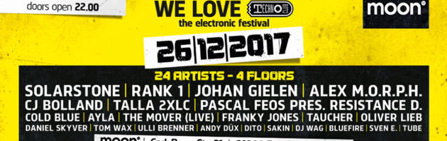 26.12.2017 We Love Technoclub Festival, Frankfurt am Main (DE)