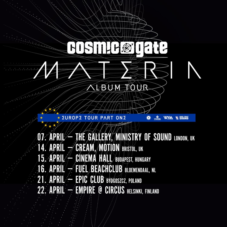 Cosmic Gate's European Materia Tour