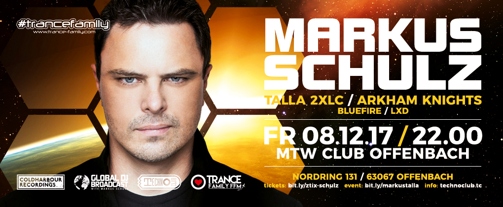 08.12.2017 TranceFamily FFM & Technoclub pres. Markus Schulz, Offenbach (DE)