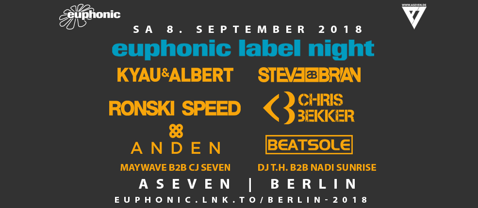 08.09.2018 Euphonic Label Night, Berlin (DE)