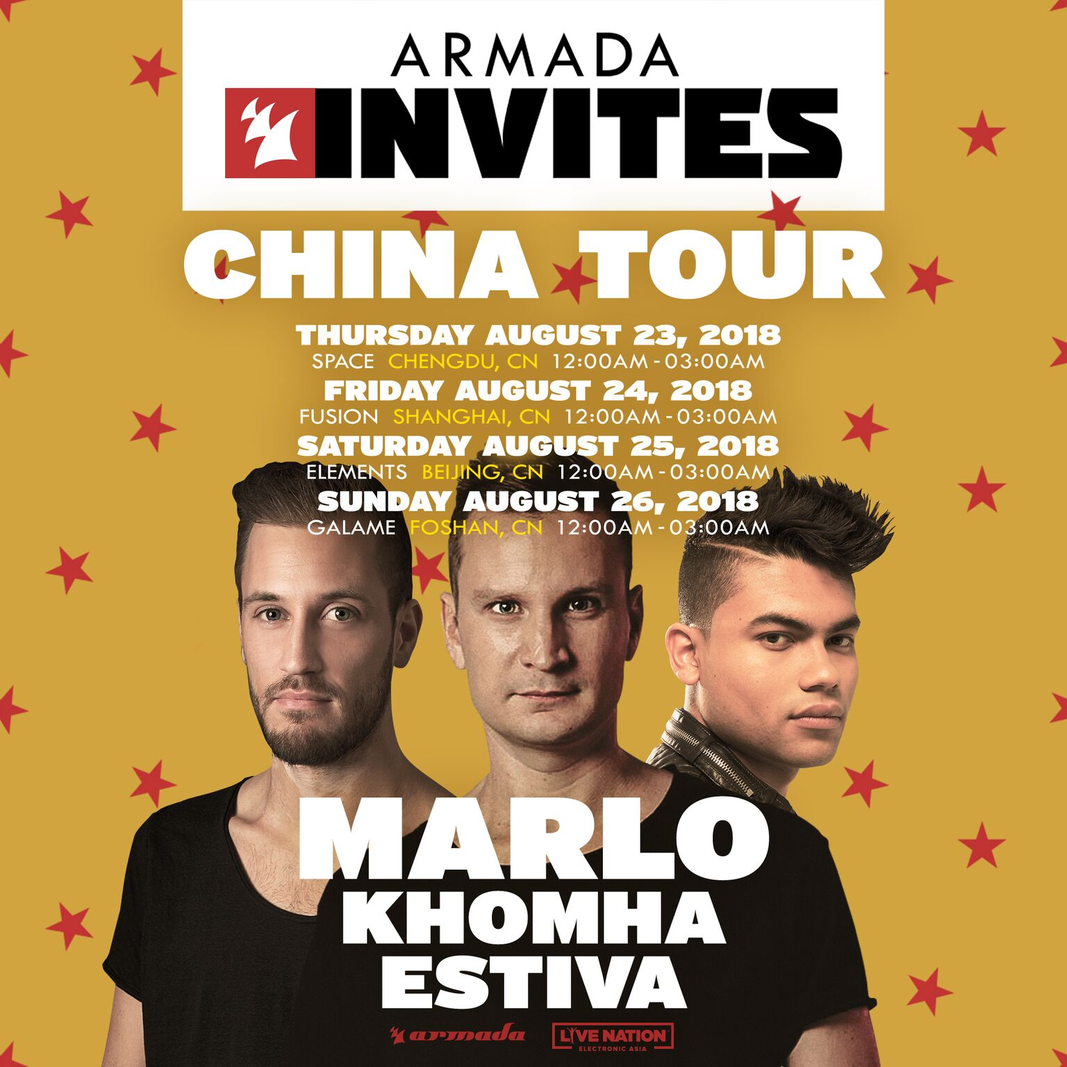 "Armada Music returns to China for second ""Armada Invites"" tour"