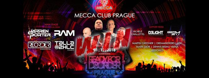 01.12.2018 ReOrder pres. ReadyForDisorder, Prague (CZ) #WIN TICKETS