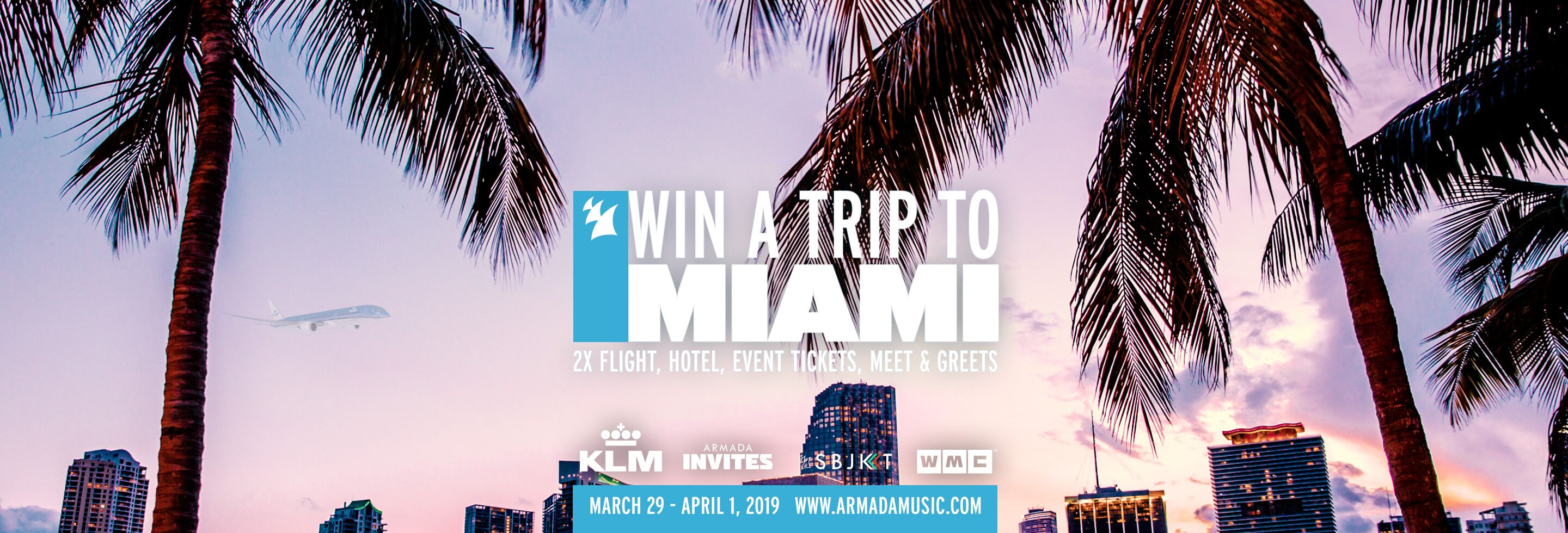 Win the ultimate Miami experience for two with Armada Music & KLM!