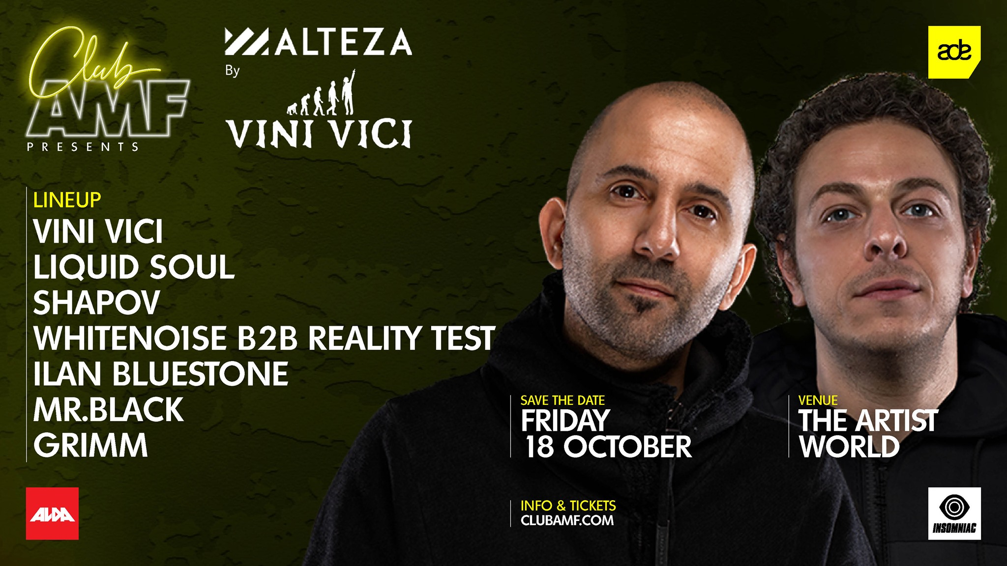 18.10.2019 Club AMF pres. Alteza by Vini Vici, Amsterdam